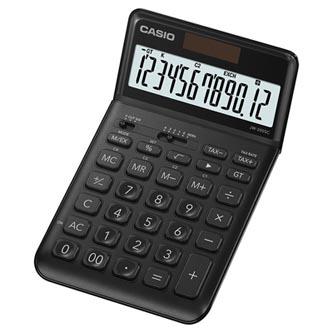 Casio Kalkulačka JW 200 SC BK, černá, dvanáctimístná, duální napájení, sklápěcí displej