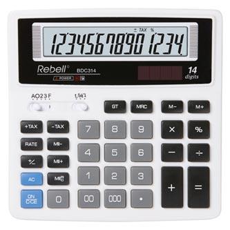 Rebell Kalkulačka RE-BDC314 BX, bílá, stolní, čtrnáctimístná