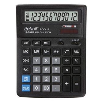 Rebell Kalkulačka RE-BDC412 BX, černá, stolní, dvanáctimístná