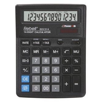 Rebell Kalkulačka RE-BDC514 BX, černá, stolní, čtrnáctimístná