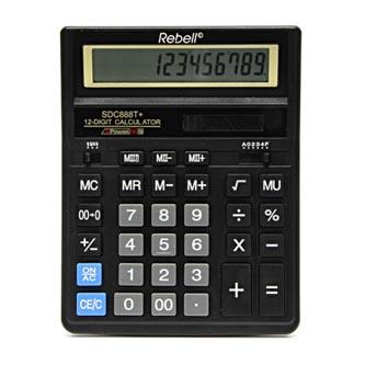 Rebell Kalkulačka RE-SDC888T+ BX, černá, stolní, dvanáctimístná