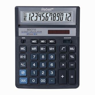 Rebell Kalkulačka RE-BDC712BL BX, modrá, stolní, dvanáctimístná