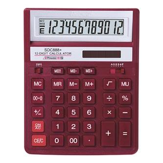 Rebell Kalkulačka RE-BDC712RD BX, červená, stolní, dvanáctimístná