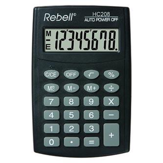Rebell Kalkulačka RE-HC208 BX, černá, kapesní, osmimístná