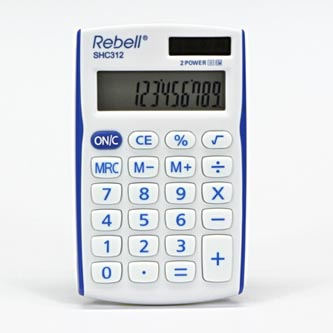 Rebell Kalkulačka RE-SHC312BL BX, bílo-modrá, kapesní, dvanáctimístná