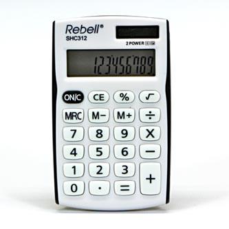 Rebell Kalkulačka RE-SHC312BK BX, bílo-černá, kapesní, dvanáctimístná
