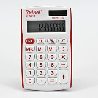 Rebell Kalkulačka RE-SHC312RD BX, bílo-červená, kapesní, dvanáctimístná
