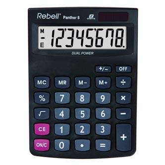 Rebell Kalkulačka RE-PANTHER 8 BX, černá, stolní, osmimístná