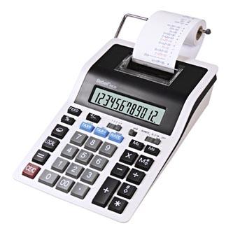 Rebell Kalkulačka RE-PDC20 WB, bílo-černá, stolní s tiskem, dvanáctimístná