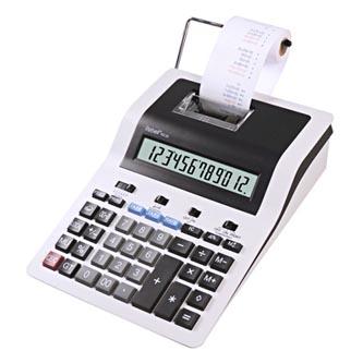 Rebell Kalkulačka RE-PDC30 WB, bílo-černá, stolní s tiskem, dvanáctimístná