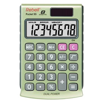 Rebell Kalkulačka RE-POCKET 5G, zlatá, kapesní, osmimístná