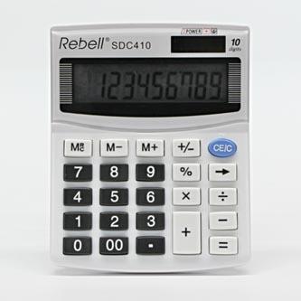 Rebell Kalkulačka RE-SDC410 BX, bílá, stolní, desetimístná