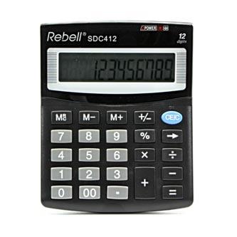 Rebell Kalkulačka RE-SDC412 BX, černá, stolní, dvanáctimístná