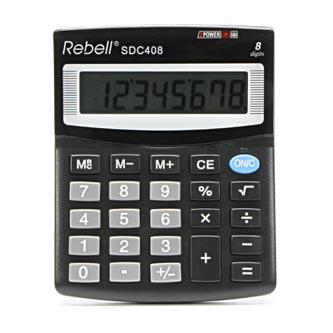 Rebell Kalkulačka RE-SDC408 BX, černá, stolní, osmimístná