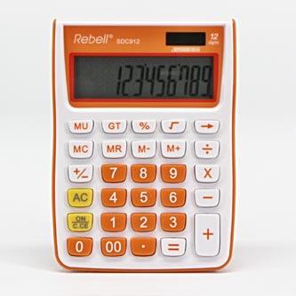 Rebell Kalkulačka RE-SDC912OR BX, oranžová, stolní, dvanáctimístná