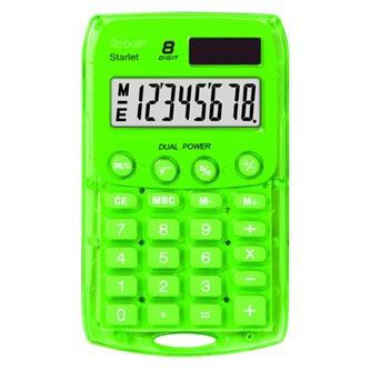 Rebell Kalkulačka RE-STARLETG BX, zelená, kapesní, osmimístná
