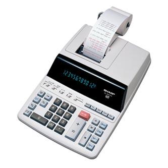 Sharp Kalkulačka EL2607PGGYSE, bílá, stolní s tiskem, dvanáctimístná