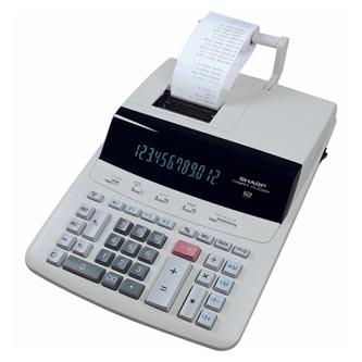 Sharp Kalkulačka CS2635RHGYSE, bílá, stolní s tiskem, dvanáctimístná