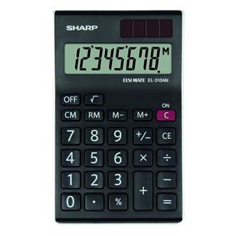 Sharp Kalkulačka EL-310ANWH, černo-bílá, stolní, osmimístná