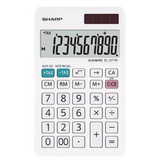 Sharp Kalkulačka EL-377W, bílá, stolní, desetimístná