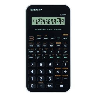 Sharp Kalkulačka EL501XWH, černo-bílá, vědecká
