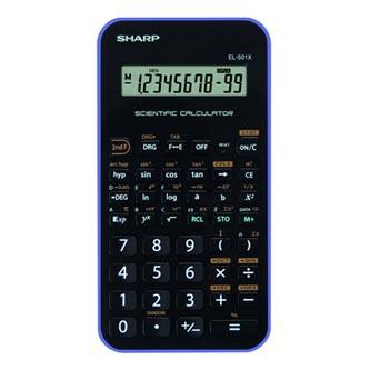 Sharp Kalkulačka EL501XVL, černo-fialová, vědecká