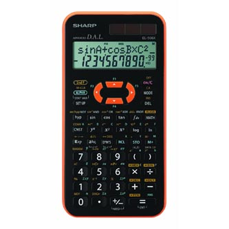 Sharp Kalkulačka EL-506XYR, černo-oranžová, vědecká