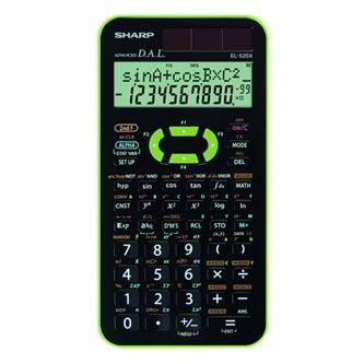 Sharp Kalkulačka EL-520XGR, černo-zelená, vědecká