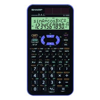 Sharp Kalkulačka EL-520XVL, černo-fialová, vědecká