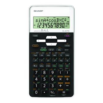 Sharp Kalkulačka EL-531THWH, černo-bílá, školní