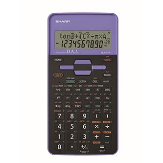 Sharp Kalkulačka EL-531THBVL, fialová, školní