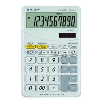 Sharp Kalkulačka EL-M332BWH, bílá, stolní, desetimístná