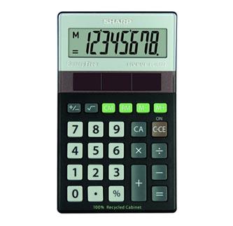 Sharp Kalkulačka EL-R277BBK, černá, kapesní, osmimístná