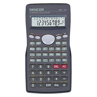 Sencor Kalkulačka SEC 102, černá, školní, desetimístná