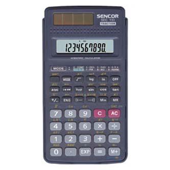 Sencor Kalkulačka SEC 133, černá, školní, dvanáctimístná