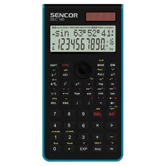 Sencor Kalkulačka SEC 160 BU, modrá, školní, dvanáctimístná