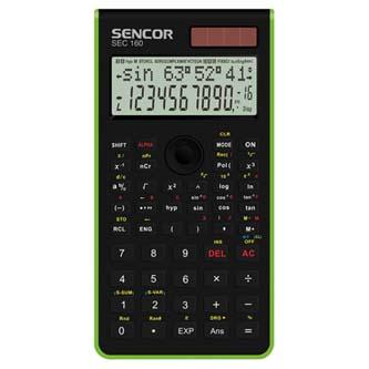 Sencor Kalkulačka SEC 160 GN, zelená, školní, dvanáctimístná