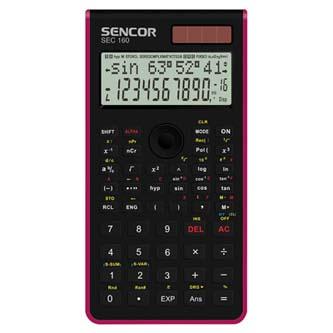 Sencor Kalkulačka SEC 160 RD, červená, školní, dvanáctimístná