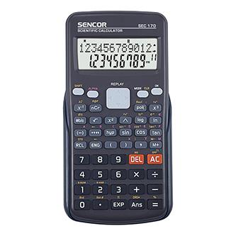 Sencor Kalkulačka SEC 170, černá, školní, dvanáctimístná