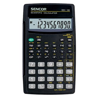 Sencor Kalkulačka SEC 180, černá, školní, desetimístná