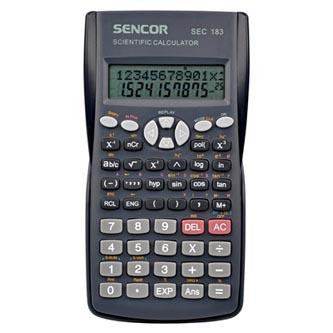 Sencor Kalkulačka SEC 183, šedá, školní, dvanáctimístná