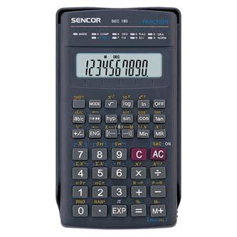 Sencor Kalkulačka SEC 185, černá, školní, desetimístná