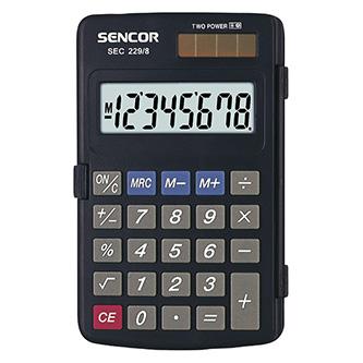 Sencor Kalkulačka SEC 229/8 DUAL, černá, kapesní, osmimístná