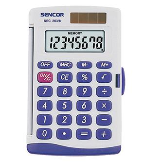 Sencor Kalkulačka SEC 263/8 DUAL, šedá, kapesní, osmimístná