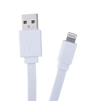 Kabel USB (2.0), USB A M- Apple Lightning M, 1.2m, plochý, bílý, Avacom, box, 120 cm, bílý