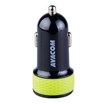 Avacom USB nabíječka do auta s výstupem USB 5V/1A, černo-zelená
