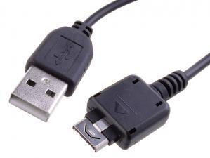 Kabel USB (2.0), USB A M- KG800 M, 0.22m, černý, Avacom, LG KG800,KU990,KS360, neumožňuje přenos dat