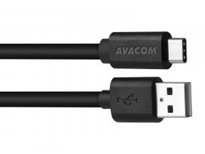 Kabel USB (2.0), USB A M- USB C M, 1m, černý, Avacom