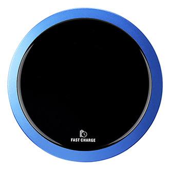 All New, Bezdrátová nabíječka, ultra tenká, pro telefon, modrá, 5/9V, 10W, ochrana proti přehřátí, Qi