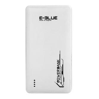 E-Blue, Power Bank, EPB001WH, 5V, 10000mAh, nabíjení mobilních telefonů, 2x USB výstup, bílá, plast-vzhled kůže